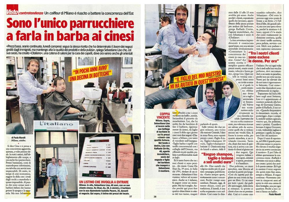 L'Italiano Parrucchieri Milano articolo su Visto