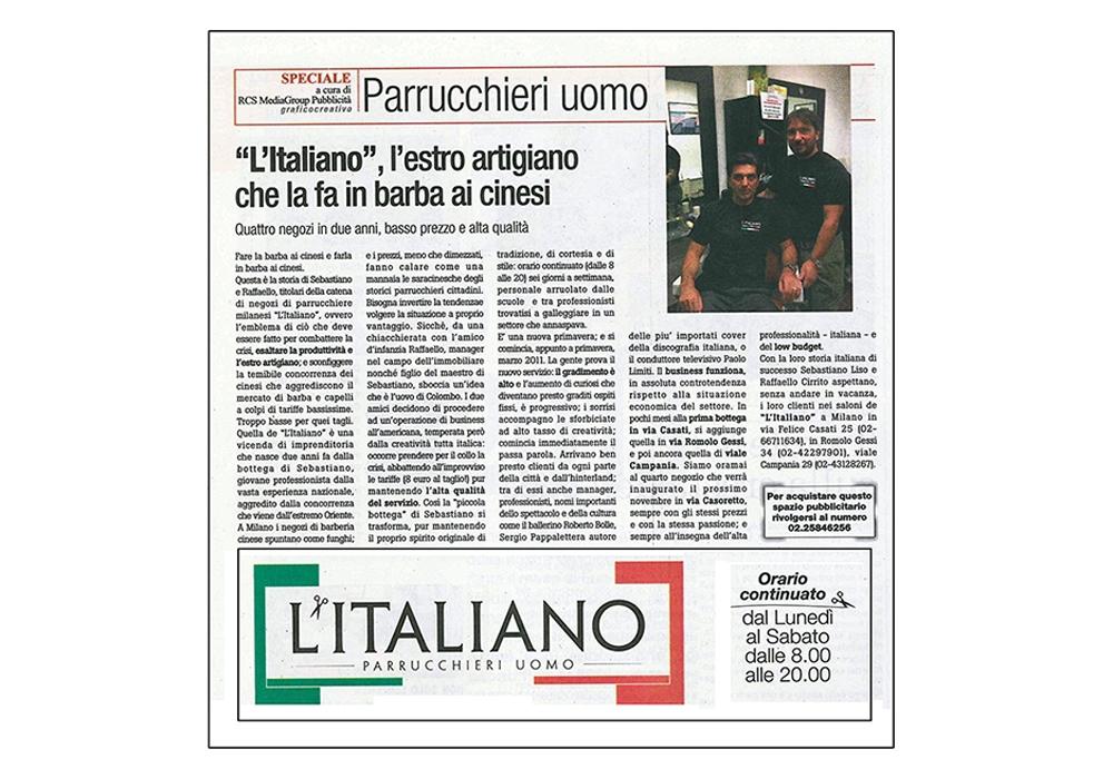 L'Italiano Parrucchieri articolo su Vivimilano