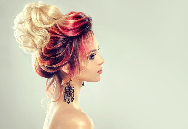 capelli punte rosse